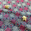 Retro - blue & pink celtic flower cotton fabric W:102cm FQ1505-08