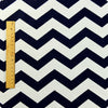 Chevron - blue navy & white 21mm stripes (width:160cm) cotton fabric FQ1505-37