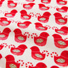 Christmas - red Nordic love birds cotton fabric W:108cm FQ1506-22