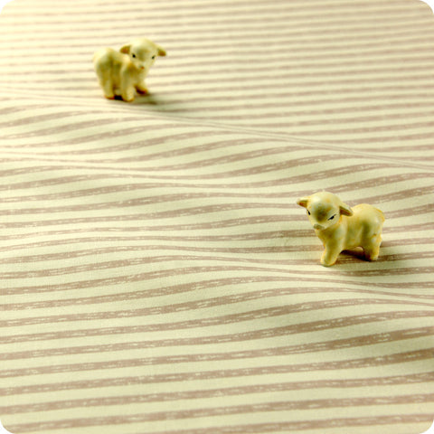 Stripe - beige distressed 3mm stripes cotton fabric