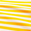 Stripe - yellow & white 10mm stripes cotton fabric