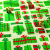 Christmas - green Xmas presents cotton fabric