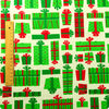 [SALE] Christmas - green Xmas presents cotton fabric W:107cm FQ1604-34