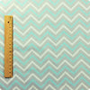 Chevron - blue , grey & white zig zags cotton fabric W:160cm FQ1604-50
