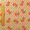 Retro - pink & red repro floral cotton fabric