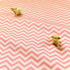 Chevron - pink & white 5mm stripe (width: 160cm) cotton fabric
