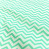 Chevron - blue aqua & white 5mm stripe cotton fabric W:160cm FQ1606-43
