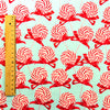 Christmas - blue & red giant swirly lollipop cotton fabric FQ1608-13