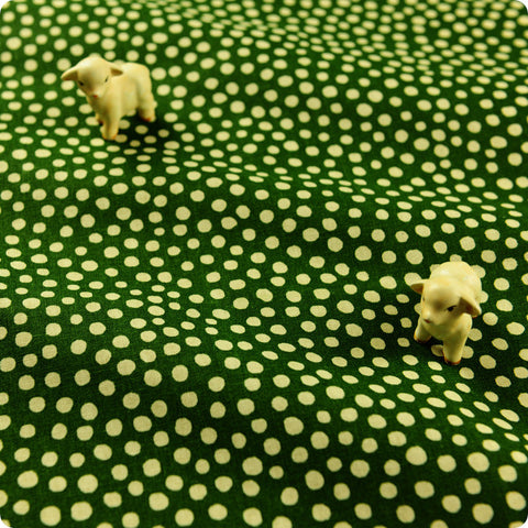Christmas - green & white Xmas irregular polka dots cotton fabric FQ1608-14