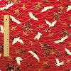 Japanese - red scarlet crane metallic cotton fabric w:148cm FQ1608-27