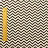 Chevron - brown & white 5mm stripe (width 160cm) cotton fabric