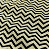 Chevron - black & white monochrome 5mm stripe (width 160cm) cotton fabric