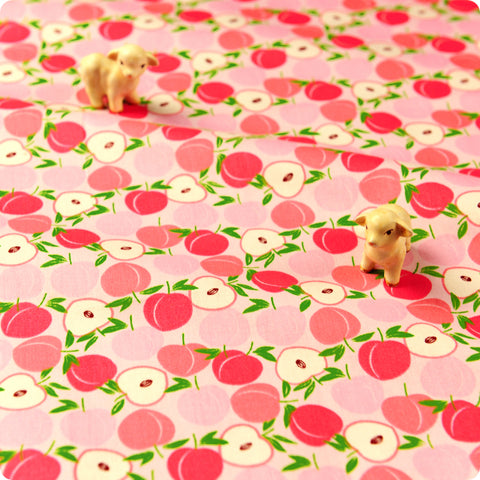 Fruit - pink petite peaches cotton fabric W:160cm FQ1611-13