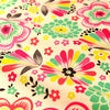 Bold Floral - pink & blue multicoloured flowers cotton fabric