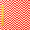 Chevron - red & white 5mm stripe (width: 160cm) cotton fabric