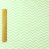 [SALE] Chevron - green lime & white 5mm stripe cotton fabric W:160cm FQ1611-27