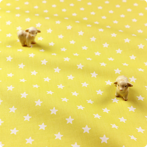 Zoo - grey & white winter polar bear & stars (width: 160cm) cotton fabric
