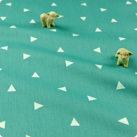 Stars - turquoise blue & white 10mm stars (width: 160cm) cotton fabric