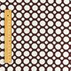 Polka dots - brown & white 20mm spots cotton fabric
