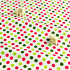 Christmas - white red & green Xmas polka dots 9mm spotty cotton fabric