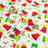 Christmas - white green & red Xmas bells cotton fabric