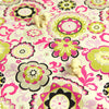 Bold Floral - pink & green lime multicoloured flowers cotton fabric