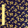 Japanese - blue navy & gold metallic mini cherry blossom (width:140cm) cotton fabric
