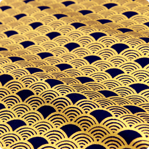 UK Fabric Store - Lush Traditional Japanese Waves Cotton Material ...