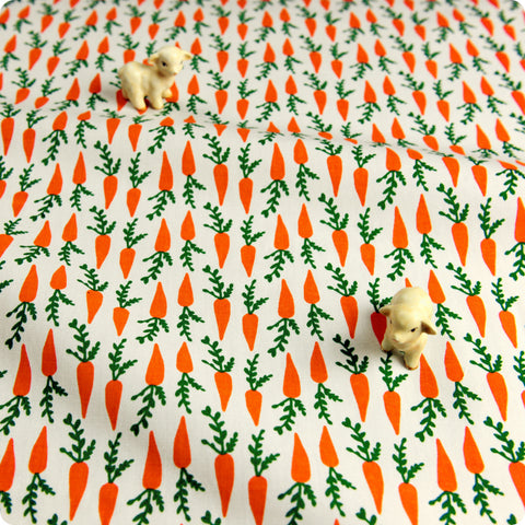 Easter - orange carrots fabric cotton fabric W:150cm FQ1709-17