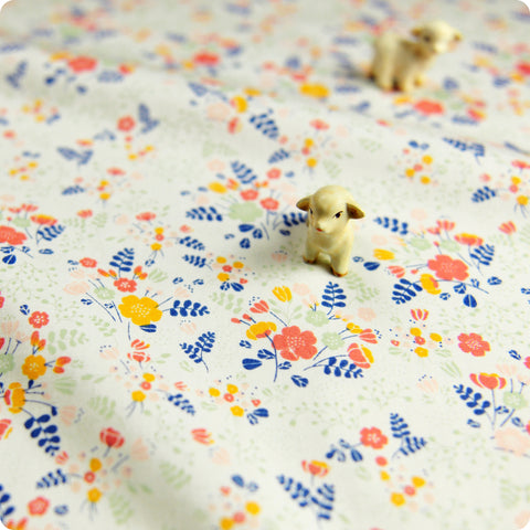 Ditsy - cream multicolour flower bunches (width:160cm) cotton fabric