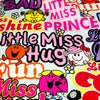 Multicolored Little Miss (width:145cm) cotton fabric - FQ1802-01