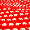 Zoo - red & white petite elephant (width 160cm) cotton fabric FQ1802-15