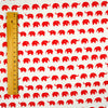 Zoo - white & red petite elephant (width: 160cm) cotton fabric FQ1802-16