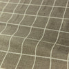 Checks - monochrome grey & white check linen fabric W:150cm FQ1804-42