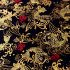 Japanese - black & gold metallic goldfish cotton fabric W:139cm FQ1807-03