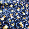 Pets - blue navy dogs & hearts cotton fabric W:150cm FQ1811-03
