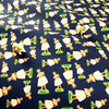 Blue navy Hawaii dolls cotton canvas fabric W150cm FQ1811-04