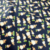 Blue navy Hawaii dolls cotton fabric W150cm FQ1811-04