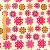 Bold floral - pink round flowers cotton canvas fabric W:148cm