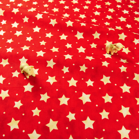 Christmas - red & white stars cotton fabric FQ1811-19