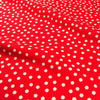 Christmas - red & white irregular polka dots snow cotton fat quarter fabric FQ1811-20