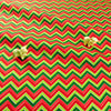 Christmas - red & green chevron print cotton fat quarter fabric FQ1811-24