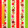 Christmas - red & green retro candy cotton fat quarter fabric FQ1811-26