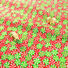 Christmas - red & green packed retro candy cotton fat quarter fabric FQ1811-29