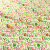 Christmas - white red & green festival texts cotton fabric FQ1811-30