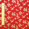 Japanese - red & gold metallic mini flowers cotton fabric W:145cm FQ2006-07