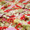 Japanese - pink & red metallic blooming clouds cotton fabric W:144cm FQ2006-21