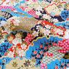 Japanese - blue & pink metallic blooming clouds cotton fabric W:144cm FQ2006-22