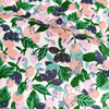 Fruits - pink & green summer berries cotton fabric W:142cm FQ2006-48