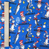 My Fabric House - Dr Seuss - blue 'Adorkable' cotton fabric W:145cm FQ2007-06